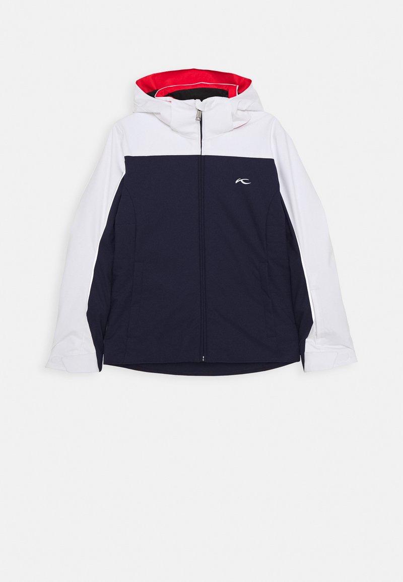 Kjus - GIRLS FORMULA JACKET - Ski jacket - blue/white