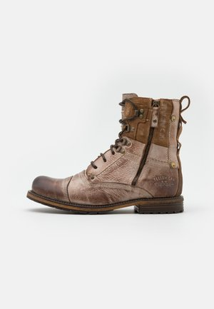 SOLDIER WITHOUT WARM LINING - Lace-up ankle boots - tan
