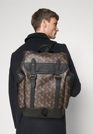HITCH BACKPACK HORSE AND CARRIAGE PRINT UNSEX - Rucksack - truffle