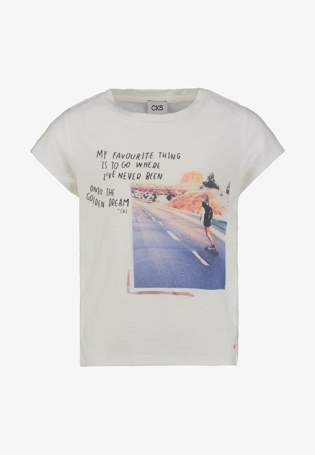 IRADE - Print T-shirt - off white