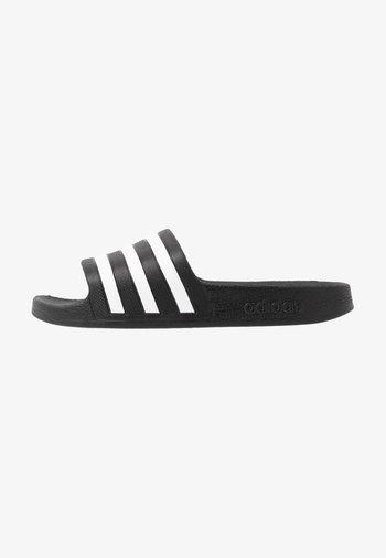 ADILETTE AQUA UNISEX - Pool slides - core black/footwear white