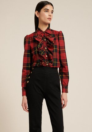 LUTER - Button-down blouse - var rosso/nero
