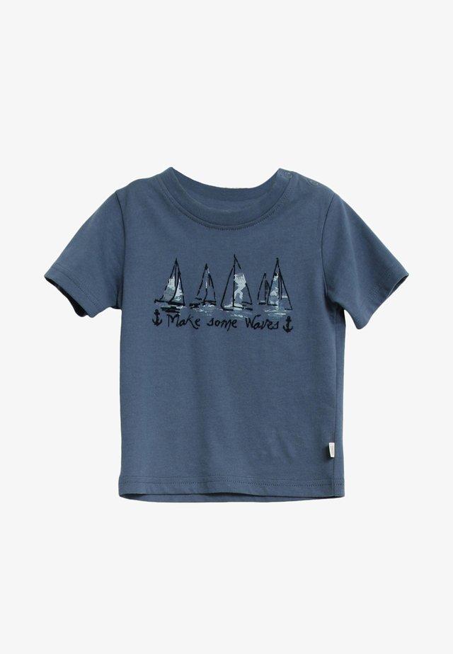 SHIPS - Print T-shirt - blue denim