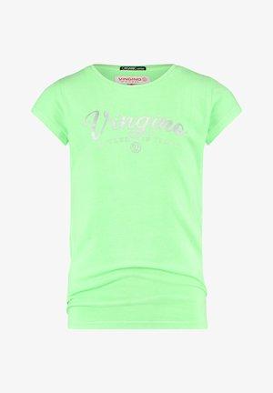Print T-shirt - fresh neon green