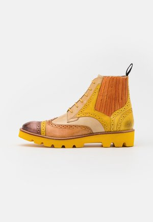 AMELIE  - Lace-up ankle boots - vegas/mogano/sun/tan/sand/camel/arancio/offwhite/rich tan/pop yellow