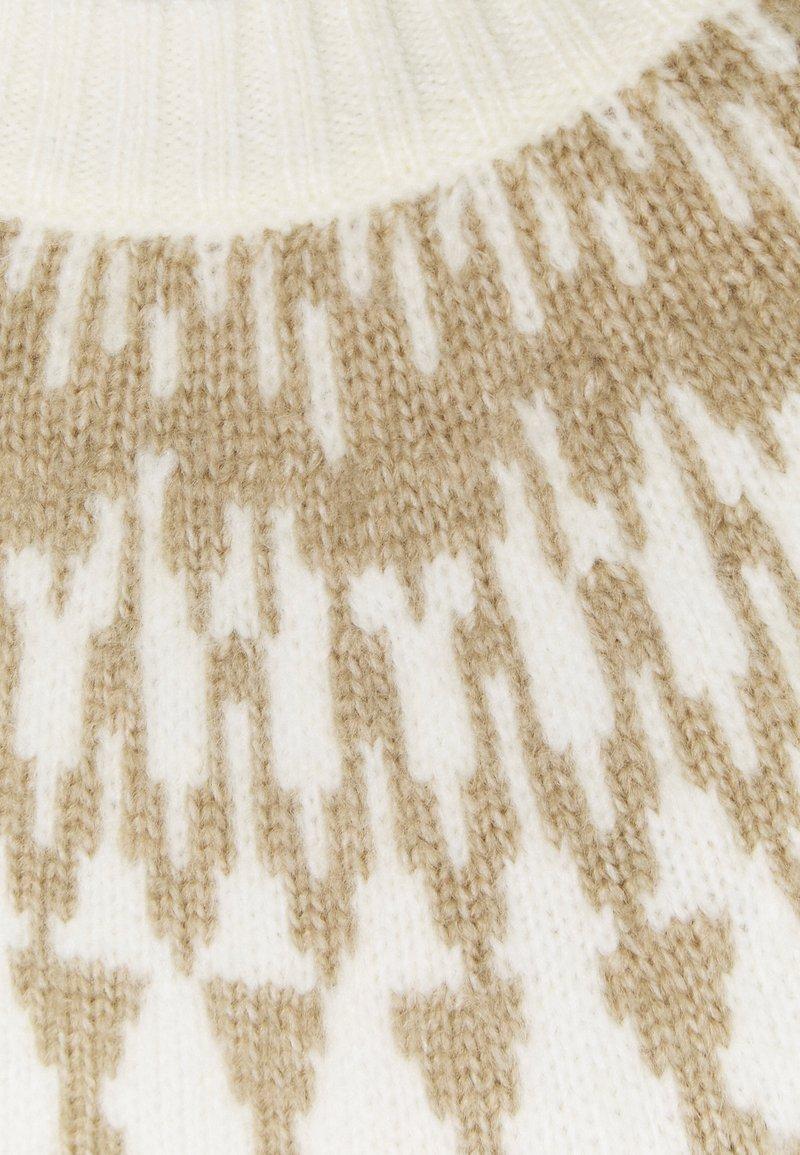 TOM TAILOR COZY FAIR ISLE - Strickpullover - soft powder beige/beige BMxGS4