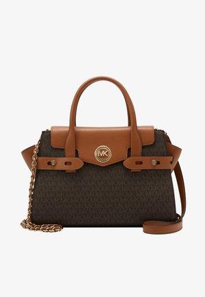 CARMEN FLAP BELTED SATCHEL - Handbag - brown/acorn