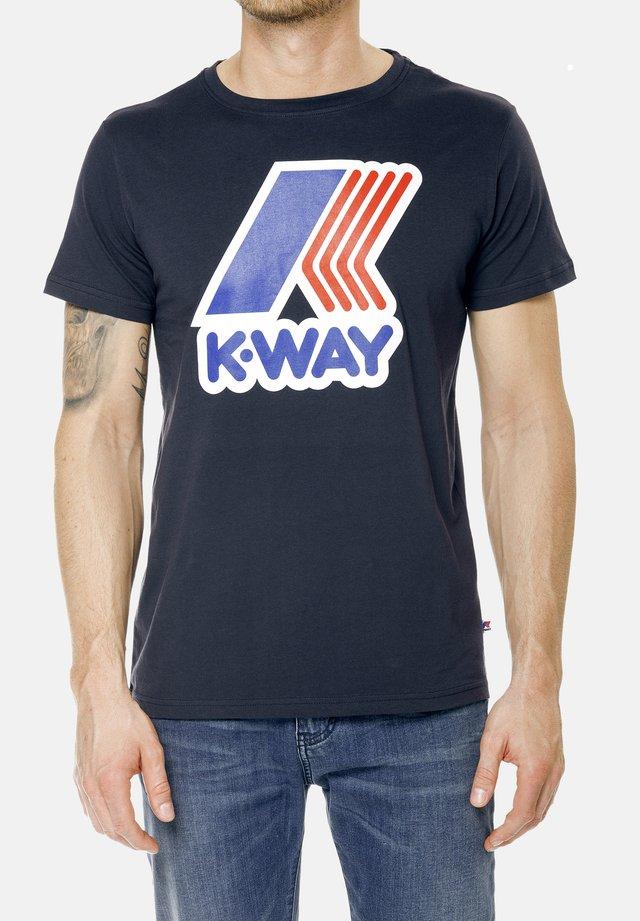 PETE MACRO - Print T-shirt - deep blue