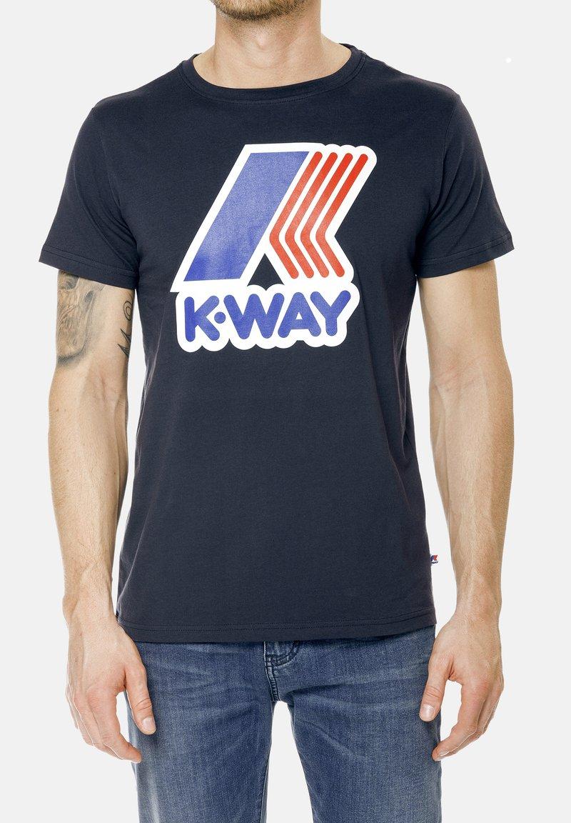K-Way - PETE MACRO - Print T-shirt - deep blue
