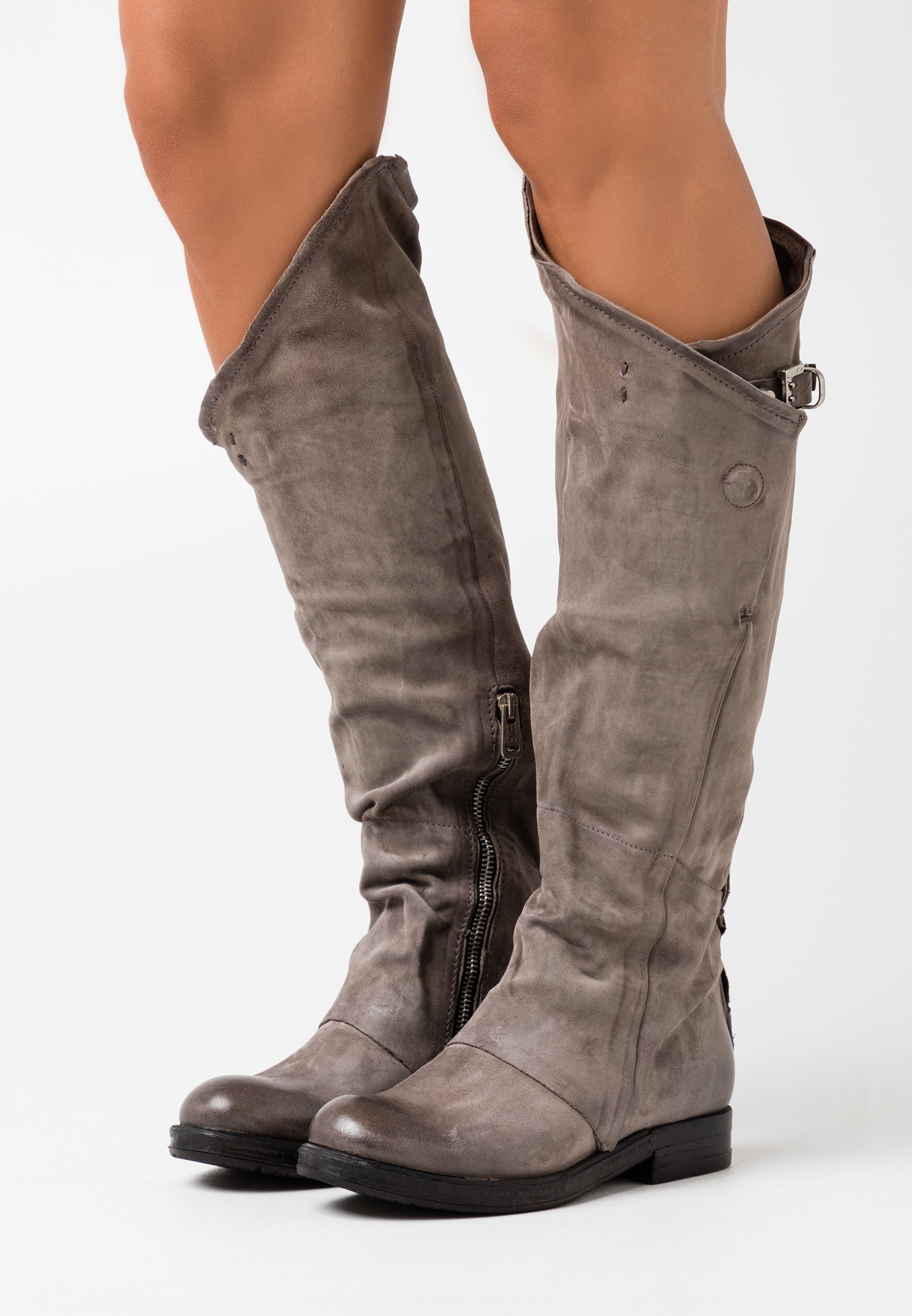 A.s.98 Over-the-knee Boots - Smoke