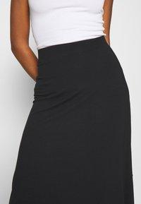 Even&Odd - BASIC - Midi skirt - A-snit nederdel/ A-formede nederdele - black - 4