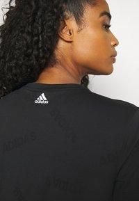adidas Performance - TEE - T-shirt de sport - black/white - 3