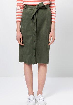 A-line skirt - dark basil