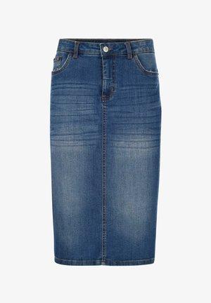 Denim skirt - blue bleached