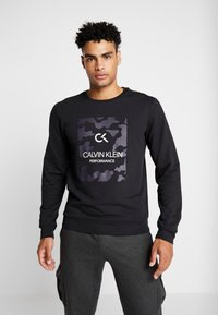 Calvin Klein Performance - BILLBOARD - Sweatshirt - black/bright white - 0