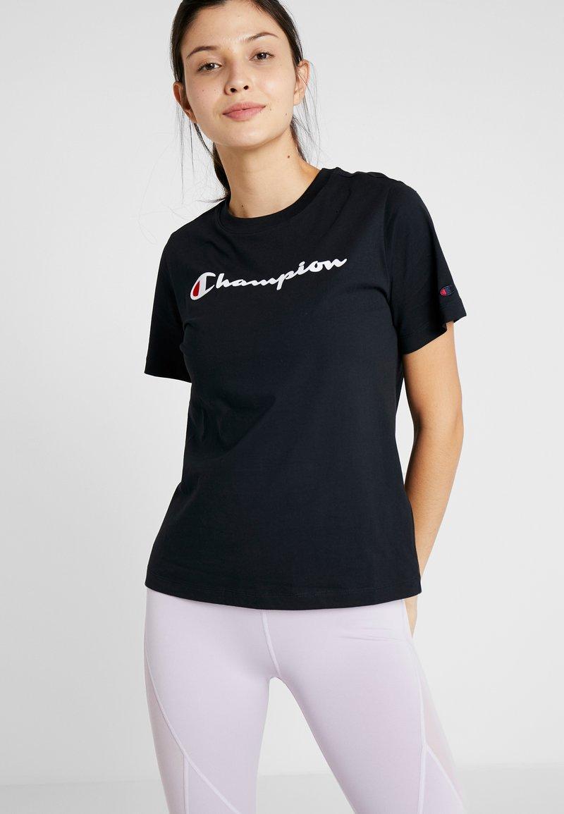 Champion - CREWNECK  - Print T-shirt - black