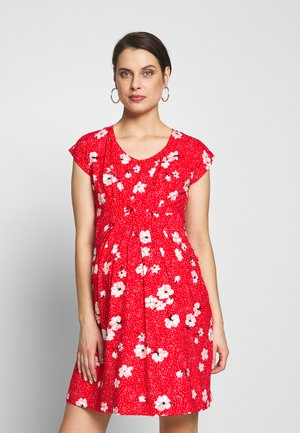 MATERNITY AND NURSING - Žerzejové šaty - red