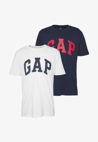 GAP - VBASIC ARCH 2 PACK - T-shirt z nadrukiem - blue/white - 5