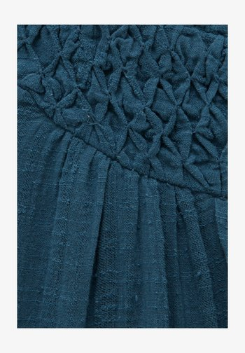 Day dress - dark-blue denim