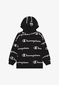 Champion - LEGACY AMERICAN CLASSICS UNISEX - Felpa con cappuccio - black/white - 2