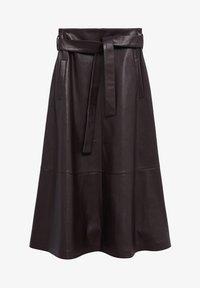 Mango - CHOCOLAT - A-line skirt - marron - 6