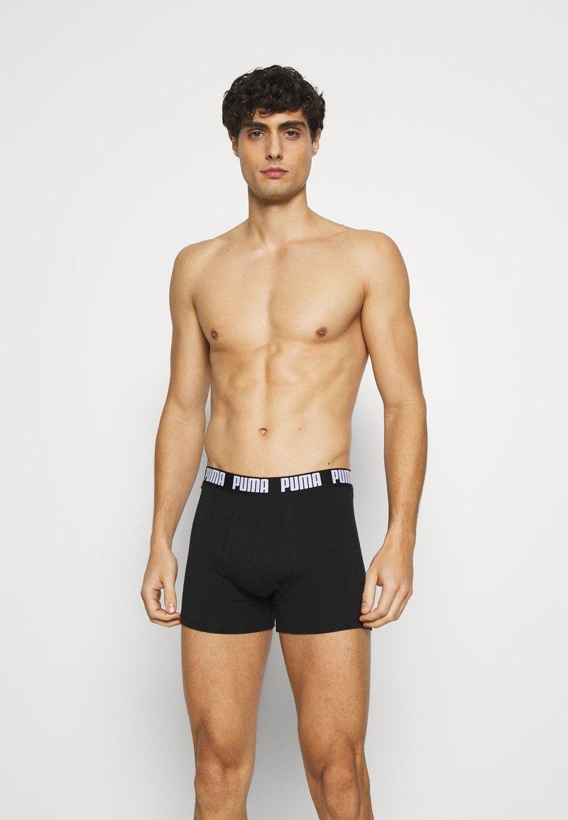 Puma - BASIC 4 PACK - Boxer shorts - white/grey melange