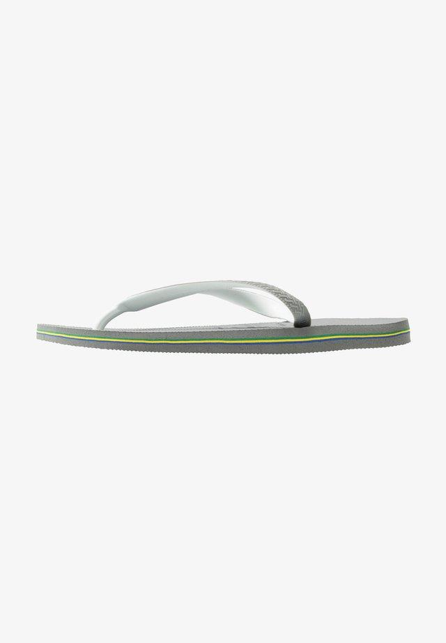 BRASIL MIX - Pool shoes - steel grey/white
