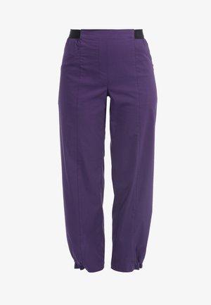 MIT ELASTISCHEM BUND - Trousers - lila