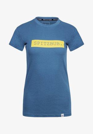 GISELA - T-shirt print - blue/yellow