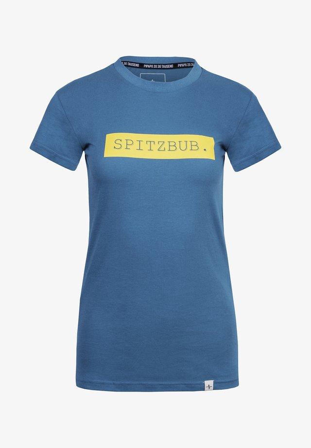 GISELA - Print T-shirt - blue/yellow