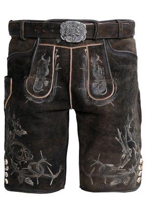 LAURENCE - Pantaloni di pelle - bison