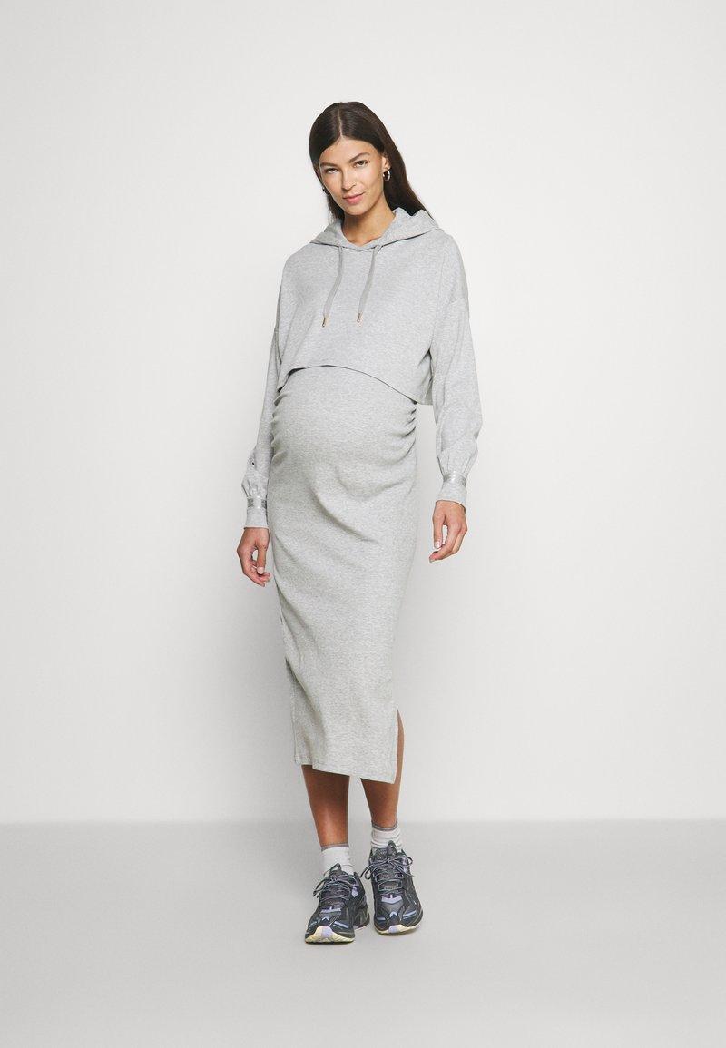 River Island Maternity - Jersey dress - grey - light