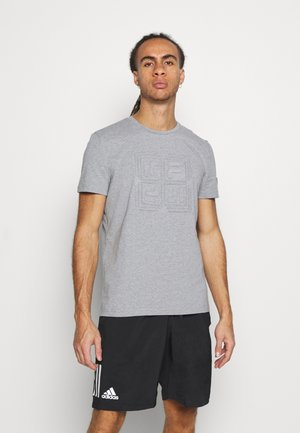 FERO - Basic T-shirt - light grey merlange