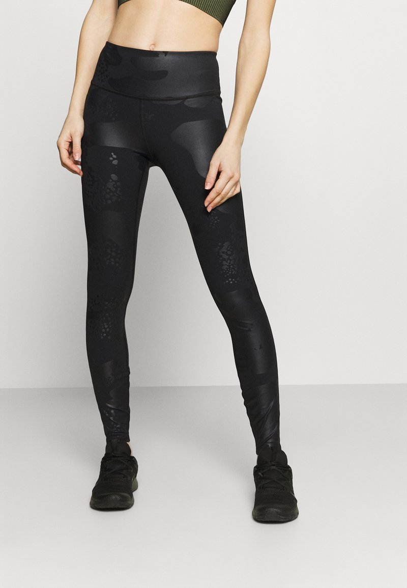 Under Armour - RUSH TONAL LEG  - Leggings - black