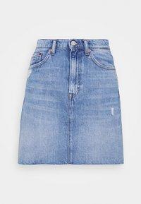 Tommy Jeans - MOM SKIRT - Mini skirt - denim light - 4
