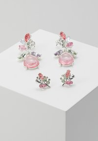 ONLY - ONLBASTA EARRING 2 PACK - Earrings - silver coloured/rose/pool blue - 0
