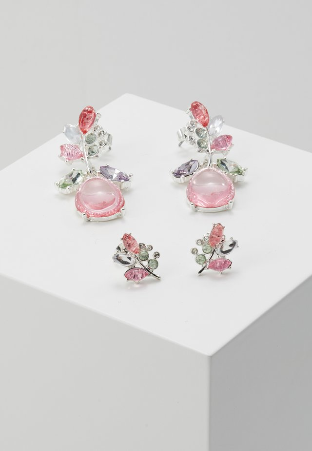ONLBASTA EARRING 2 PACK - Korvakorut - silver coloured/rose/pool blue