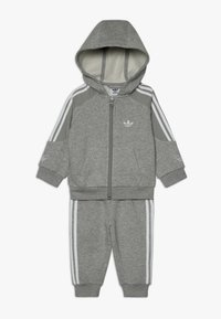 adidas Originals - OUTLINE HOODIE SET - Træningssæt - medium grey heather/white - 0