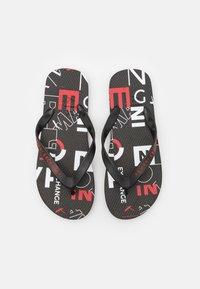 Armani Exchange - T-bar sandals - white/black/red - 3