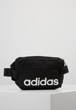 ESSENTIALS LINEAR SPORT WAISTBAG - Ledvinka - black/white