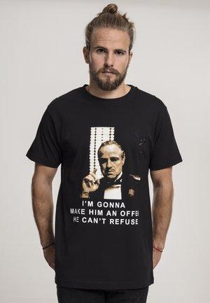 GODFATHER REFUSE - Print T-shirt - black