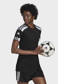 adidas Performance - SQUADRA 21 - Camiseta estampada - black/white - 2