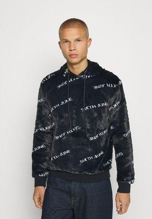 HALFZIP HOODIE - Sweatshirt - black