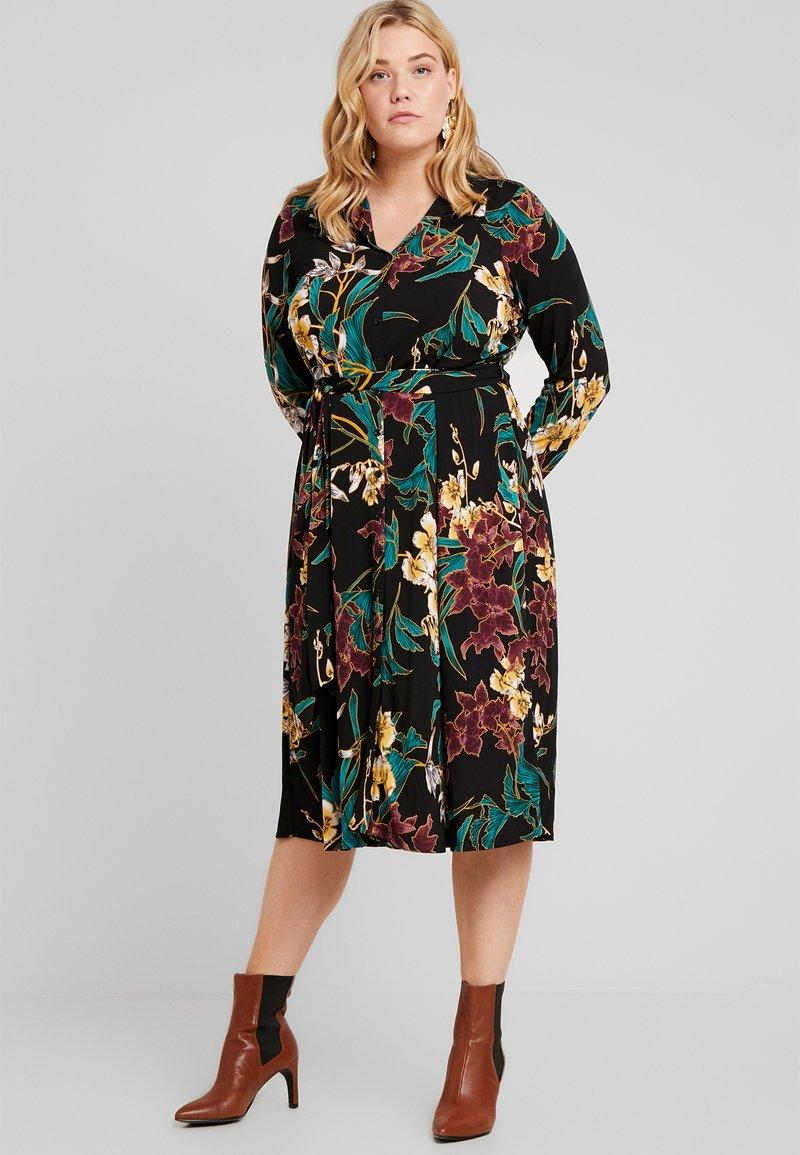 Dorothy Perkins Curve - FORMAL DRESS FLORAL - Jerseykjoler - black