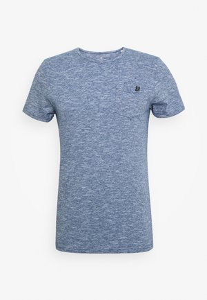 WITH CHEST POCKET - Basic T-shirt - blue