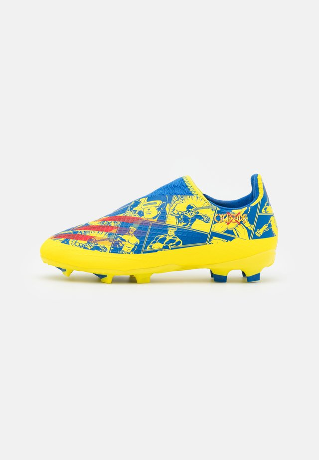X GHOSTED.3 LL FG UNISEX - Chaussures de foot à crampons - blue/vivid red/yellow