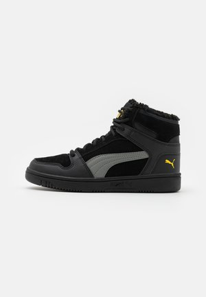 REBOUND LAYUP JR  - High-top trainers - black/ultra gray/super lemon