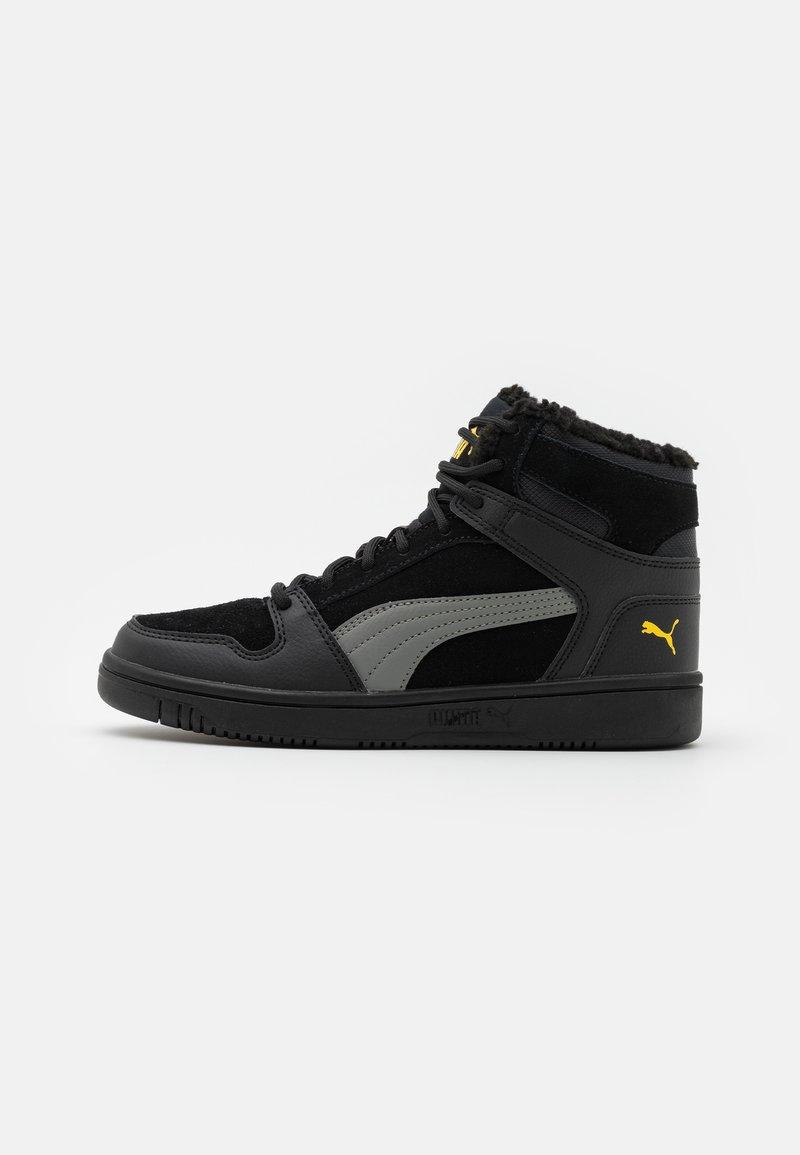 Puma - REBOUND LAYUP JR  - Sneaker high - black/ultra gray/super lemon