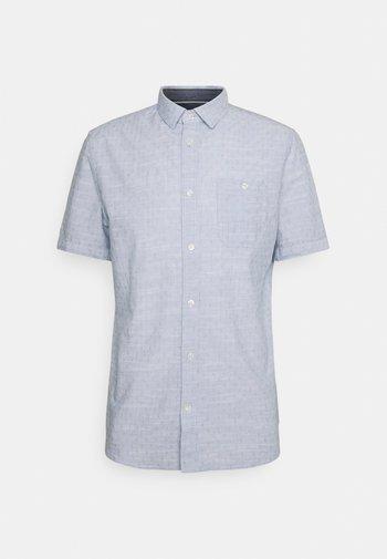 REGULAR DOBBY - Shirt - white/blue