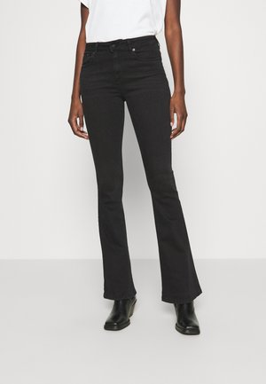 RAVAL - Flared jeans - black stone